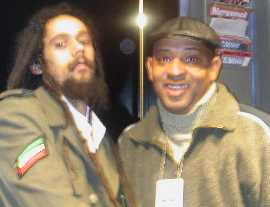 Damian Marley with author November 2005