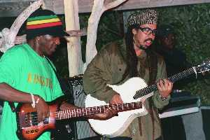 Benjy Myaz and Third World's Cat Coore in Jamaica