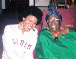 The author with Ms. Cedella Booker Marley