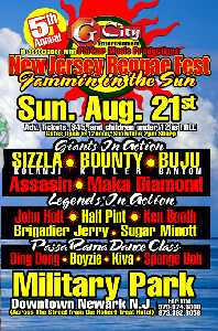5th Annual New Jersey Reggae Fest Flyer