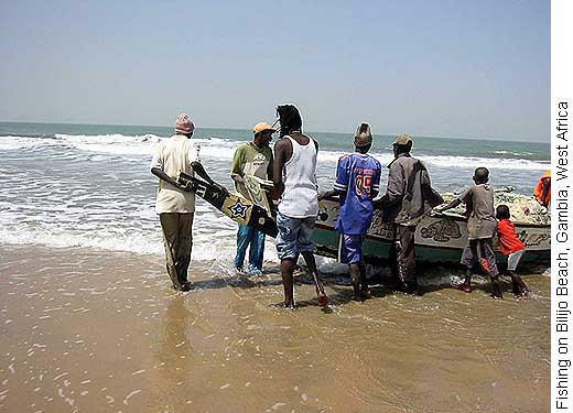 Fishing on Bijilo Beach, Gambia, West Africa