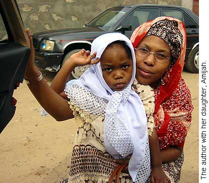 The author with her daughter, Amijah.