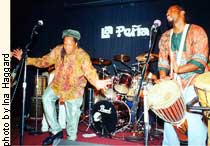 Ras Mo and Hugh Humphrey of the band Jouvert